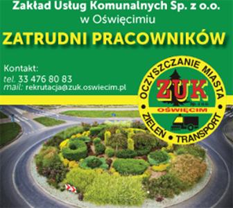 Zakład Usług Komunalnych Sp. z o.o. w Oświęcimiu zatrudni pracowników